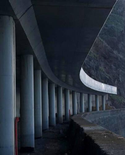 Open-Air Road Tunnel in Ribeira Brava
